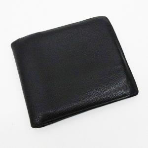 d0b818294401 ブルガリ BVLGARI 財布 二つ折り レザー 本革 黒 ブラック系 メンズ【中古】【