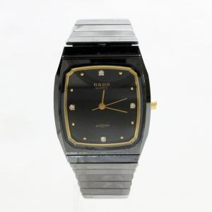 【中古】ラドー RADO 132.9504.3 ダイヤスター 4P クォーツ 腕時計 黒 ブラック系 ゴールド系 メンズ 【ベクトル 古着】|vectorpremium
