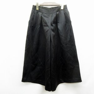 【中古】グリーンレーベルリラクシング ユナイテッドアローズ ゴムウエスト ガウチョ パンツ 40 Lサイズ相当 黒 ブラック系 ●32 レディース 【ベクトル 古着】