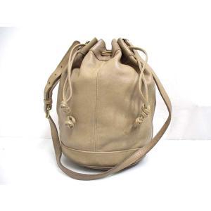 8acff46d174e コーチ COACH オールドコーチ 巾着 ショルダー バッグ ベージュ 025 USA製 オールレザー メンズ レディース【中古】【ベクトル 古着】