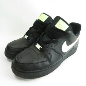【中古】ナイキ NIKE WMNS AIR FORCE 1 07 BLACK/BLACK-BAREL...