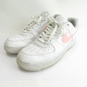 【中古】ナイキ NIKE WMNS AIR FORCE 1'07 WHITE/ORACLE PINK...