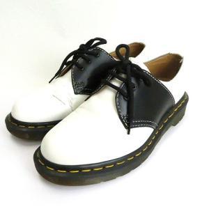 【中古】ドクターマーチン DR.MARTENS COMME des GARCONS コムデギャルソン 3ホール バイカラー シューズ 靴 14439 黒 白 4UK レディース 【ベクトル 古着】|vectorpremium