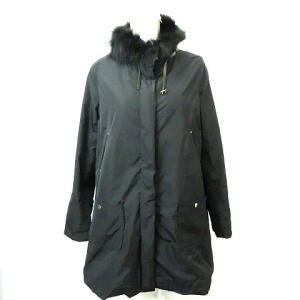 【中古】パオラフラーニ PAOLA FRANI ファー付き 中綿コート 黒ブラック44 レディース 【ベクトル 古着】 vectorpremium