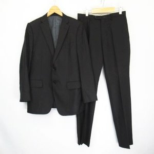 【中古】テムズポイント THAMESPOINT 2B シングルスーツ セットアップ 黒 ブラック 96 Y7 メンズ 【ベクトル 古着】|vectorpremium