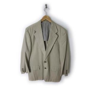 WOOD HOUSE ジャケット テーラード シーアイランドコットン S ベージュ west indian sea island cotton シングル  日本製 メンズ【中古】【ベクトル 古着】