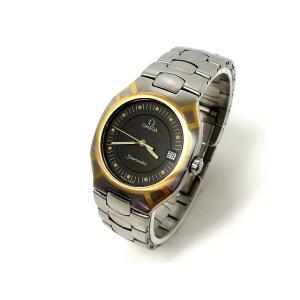 オメガ OMEGA 腕時計 シーマスター ポラリス デイト コンビ SS YG クオーツ シルバー ゴールド ウォッチ 小物 メンズ【中古】【ベクトル 古着】 vectorpremium
