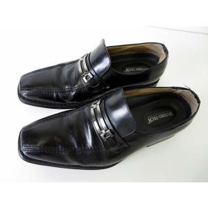 HYDRO TECH ハイドロテック ビジネスシューズ 革靴 スリッポン 25.0 黒 ブラック くつ 靴 シューズ 小さいサイズ メンズ【中古】【ベクトル 古着】|vectorpremium