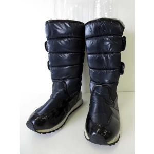 【中古】Ciara ブーツ スノーブーツ 裏ボア キルト 22.0 紺 ネイビー くつ 靴 シューズ...