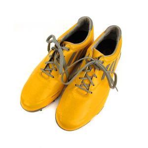 アディダス adidas アディゼロ adizero ゴルフシューズ 靴 バイカラー イエロー系 黄 グレー 24.5cm メンズ 【中古】【ベクトル 古着】 vectorpremium