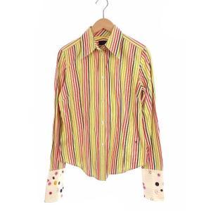 【中古】ポールスミス ブラック Paul Smith BLACK トップス シャツ ワイシャツ 長袖...