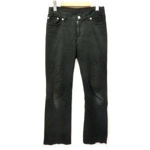 アニエスベー agnes b. パンツ ブーツカット 裾ジップ ストレッチ 無地 日本製 36 黒 ブラック S69161 レディース【中古】【ベクトル 古着】