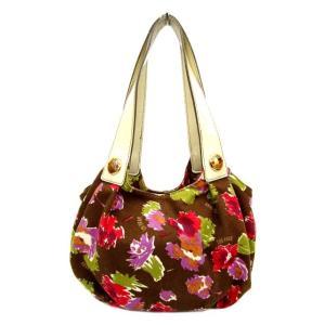 アナスイ ANNA SUI トートバッグ キャンバス 花柄 ハンドバック 持ち手エナメル ロゴ 鞄 かばん 茶 ブラウン Y81617 レディース【中古】【ベクトル 古着】|vectorpremium
