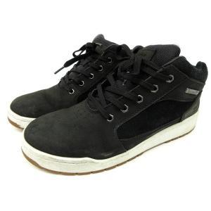 ティンバーランド Timberland スニーカー MID レザー ヌバックxスエード ミッドカット シューズ 靴 UK8.5 黒 ブラック Y03796 メンズ【中古】【ベクトル 古着】|vectorpremium