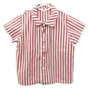 4db1c8f47d5a1 ベビーディオール baby Dior シャツ ベビー服 トップス ストライプ ブラウス 国内正規 男の子 90 赤 レッド 日本製 B06764  メンズ 中古  ベクトル 古着