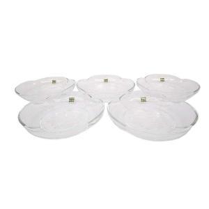 未使用品 HOYA ホヤクリスタル ART ENGRAVING 5枚セット 小皿 フルーツ皿 サラダ...