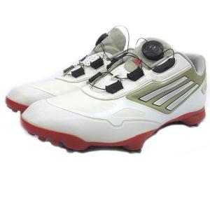 アディダス adidas アディゼロ ワンボア Q46696 ゴルフ シューズ スパイク US9.5 27cm 白 ホワイト Y09275 メンズ 【中古】【ベクトル 古着】|vectorpremium