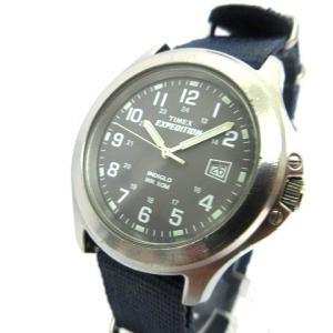 タイメックス TIMEX 腕時計 EXPEDITION エクスペディション アナログ ミリタリー クォーツ ナイロンベルト シルバーx紺 ネイビー K09423 メンズ 【中古】|vectorpremium