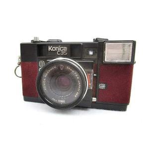 コニカ KONICA c35 フィルムカメラ 銀塩 コンパクト F2.8 38mm ボルドー 黒 ブ...