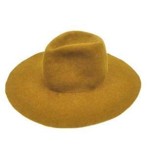 【中古】キジマタカユキ KIJIMATAKAYUKI 152940 ロングブリム ウール ハット 帽...