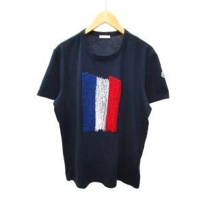 【中古】モンクレール MONCLER ☆AA★ Tシャツ 半袖 maglia t-shirt 刺繍 ...