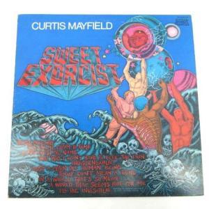 【中古】洋楽レコード LP盤 カーティスメイフィールド Curtis mayfield sweet exorcist 74年ヒット曲 8曲 青 ブルー C030418 その他 【ベクトル 古着】|vectorpremium