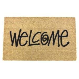 【中古】未使用品 ステューシー STUSSY 20AW welcome mat 玄関マット カーペット ラグ マット ロゴ パイル ココヤシ 45cm x 77cm 茶 ブラウン C032802 その他|vectorpremium