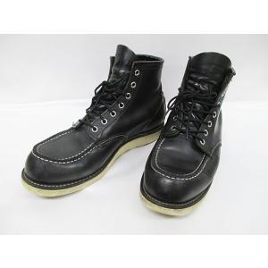 レッドウィング REDWING ワークブーツ 27cm 黒 8130 モックトゥ 紳士靴 メンズシューズ D2903【中古】【ベクトル 古着】|vectorpremium