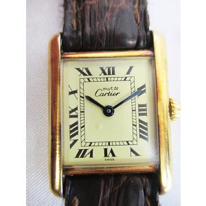 カルティエ Cartier マストタンク 腕時計 クオーツ 925 ヴィンテージ アンティーク D3114 ☆AA★ レディース【中古】【ベクトル 古着】