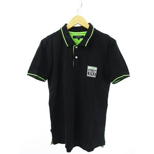 トミー TOMMY ポロシャツ 半袖 プリント S 黒 緑 ブラック グリーン 国内正規 メンズ【中古】【ベクトル 古着】|vectorpremium