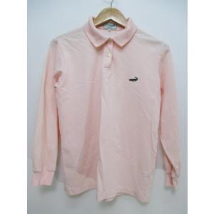 1920ba0d672c クロコダイル CROCODILE 長袖 ポロシャツ ボタン クロコダイル 38 ピンク系 綿 コット.
