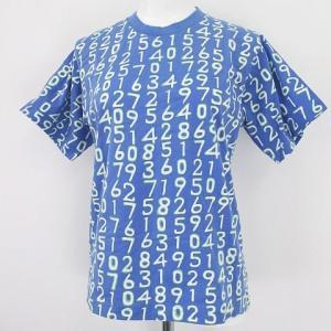 未使用品 ジムトンプソン JIM THOMPSON 半袖 カットソー Tシャツ L 青系 ブルー 数...