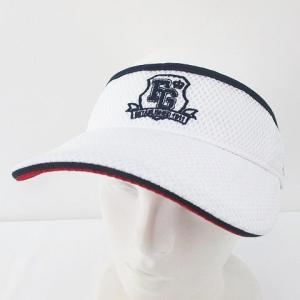 【中古】未使用品 フィラ FILA GOLF ゴルフウェア サンバイザー 帽子 F 白系 ホワイト ...
