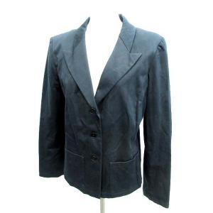 アニエスベー agnes b. テーラードジャケット 長袖 ネイビー 3 /☆F33 レディース 【ベクトル 古着】【中古】