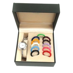 グッチ GUCCI 腕時計 チェンジベゼル リング バングル クォーツ 12色 シルバー /YM レディース【中古】【ベクトル 古着】|vectorpremium
