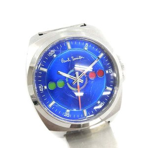 ポールスミス PAUL SMITH ファイブアイズ ホリゾンタル 腕時計 クォーツ シルバー 青 /☆K メンズ【中古】【ベクトル 古着】 vectorpremium
