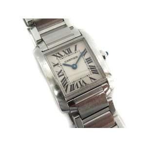 カルティエ Cartier タンクフランセーズ 腕時計 クォーツ スクエア シルバー 2384 /☆K レディース【中古】【ベクトル 古着】 vectorpremium