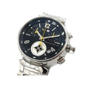 ルイヴィトン LOUIS VUITTON 腕時計 タンブール ラブリーカップ MM SSブレス クロノ ノワール シルバー Q132G /☆K レディース【中古】【ベクトル 古着】|vectorpremium