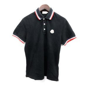 モンクレール MONCLER ポロシャツ 半袖 L 黒 /EK メンズ【中古】【ベクトル 古着】|vectorpremium