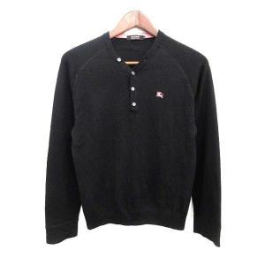バーバリーブラックレーベル BURBERRY BLACK LABEL ニット セーター 長袖 ウール 2 黒 /KH メンズ【中古】【ベクトル 古着】|vectorpremium