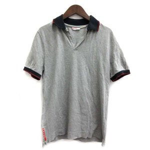 24937b662a19 プラダスポーツ PRADA SPORT ポロシャツ 半袖 グレー /TK メンズ【中古】【ベクトル 古着】