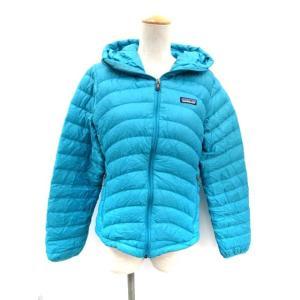 4d0be0404fedda パタゴニア Patagonia ダウンジャケット ウィメンズダウンセーターフーディ W's Down Sweater Full-Zip Hoody S 水色  レディース【中古】【ベクトル 古着】