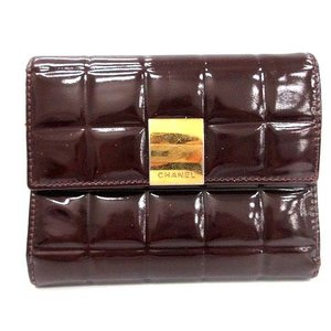 777cd963f683 シャネル CHANEL 財布 三つ折り チョコバー レザー ブラウン 茶 /KH ☆CA☆あ レディース【中古】【ベクトル 古着】