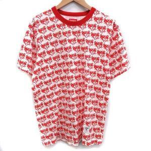 de9137897f31 シュプリーム SUPREME 14SS Tシャツ カットソー Pink Panther TOP 半袖 総柄 M 白 赤 ホワイト レッド /KH  メンズ【中古】【ベクトル 古着】