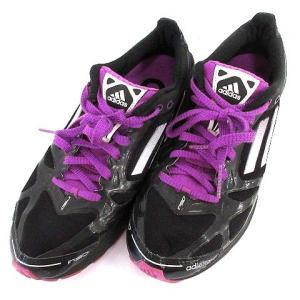アディダス adidas Women's AdiZero  スニーカー 24.0 パープル 黒 V23425  /☆G レディース 【中古】【ベクトル 古着】|vectorpremium