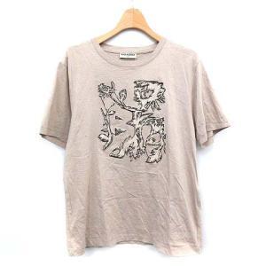 【中古】バレンシアガ BALENCIAGA Tシャツ 半袖 プリント S グレージュ  /☆G メンズ 【ベクトル 古着】|vectorpremium