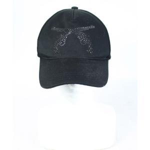 【中古】ロアー roar キャップ 帽子 2丁拳銃 ラインストーン 黒 ブラック 1 /DE9 メン...