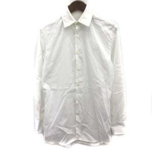 【中古】プラダ PRADA シャツ ワイシャツ 長袖 37/14 1/2 白 ホワイト /EK ●D...