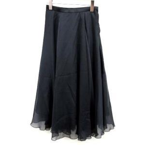 【中古】未使用品 セルフォード CELFORD 19SS スカート ロング フレア シフォン 36 ...