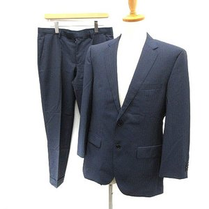 【中古】ヒューゴボス HUGO BOSS セットアップ 上下 スーツ ジャケット パンツ ストライプ...